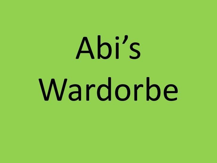 Abi'sWardorbe<br />