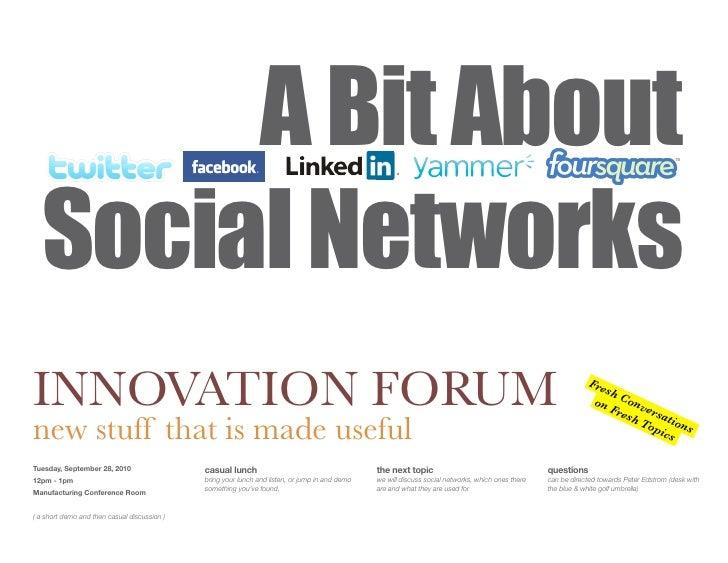 Innovation Forum Social Networks