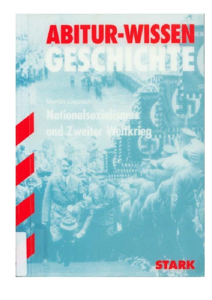 Abitur Wissen   Liepach,Martin   Nationalsozialismus Und Zweiter Weltkrieg(128s) O
