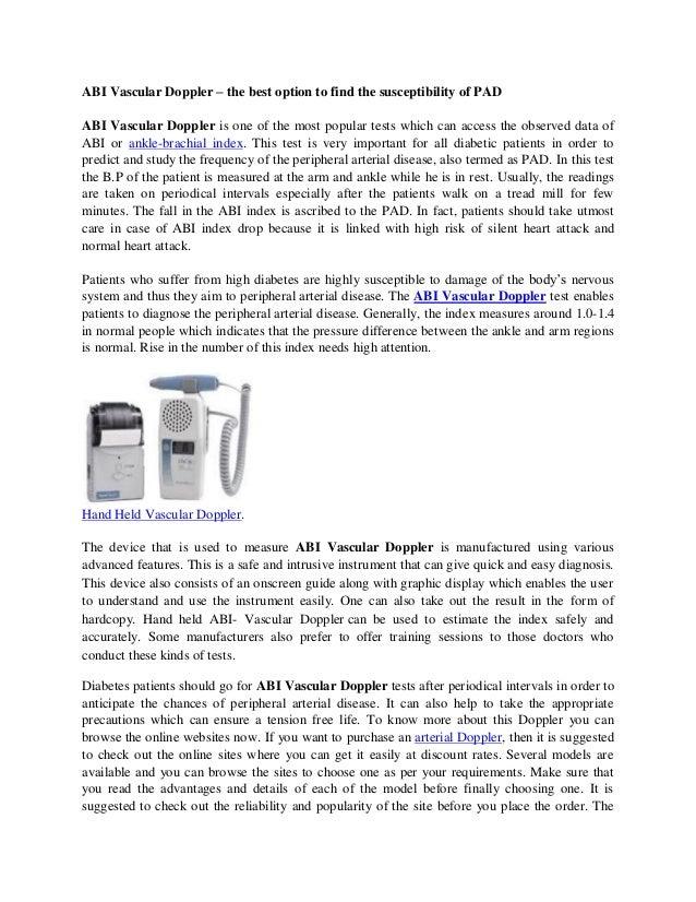 Koven Vascular Ultrasound Doppler Systems - ABI for PAD ...