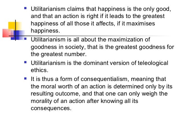 utilitarianism term papers