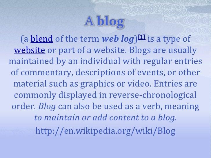 A blog 2