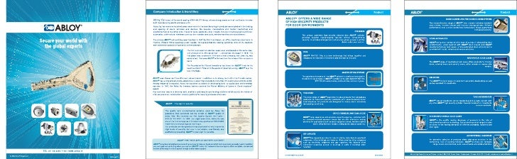 Abloy Company Profile 4pg