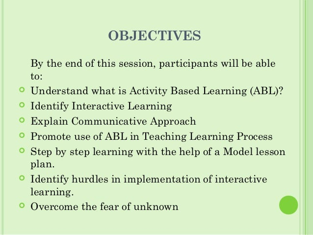 activity based learning essay