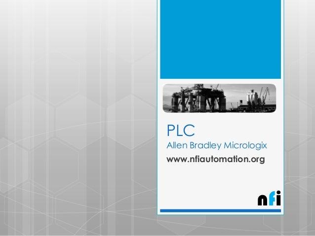 Allen Bradley- Micrologix PLC Instructions