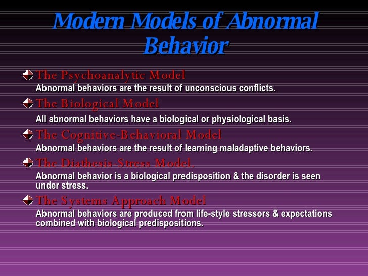 the models of abnormality