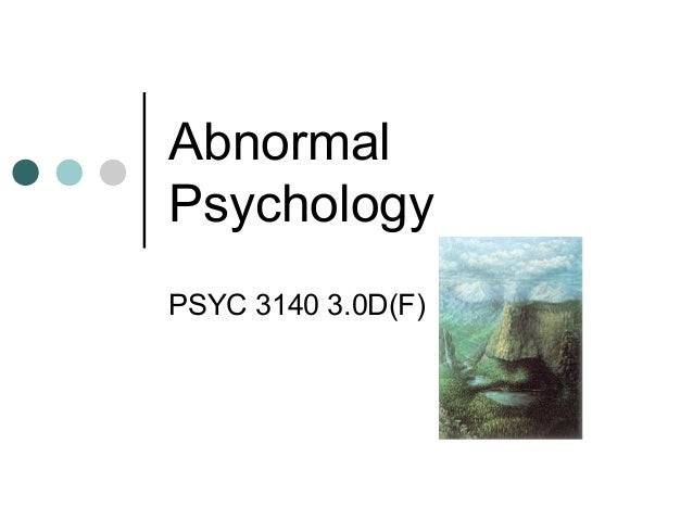 Abnormal psychology 1b