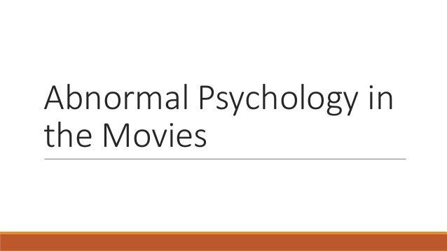 Mental disorders in film