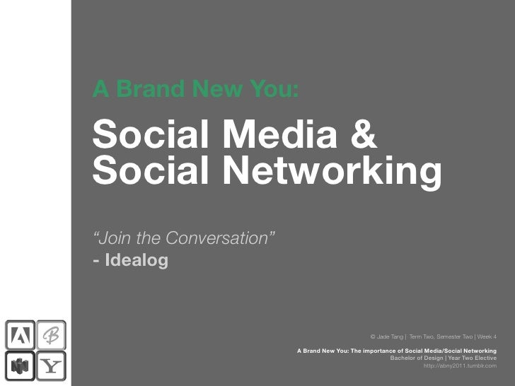 """A Brand New You:Social Media &Social Networking""""Join the Conversation""""- Idealog                                           ..."""
