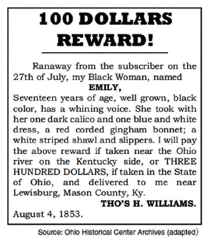 Abolitionist reward