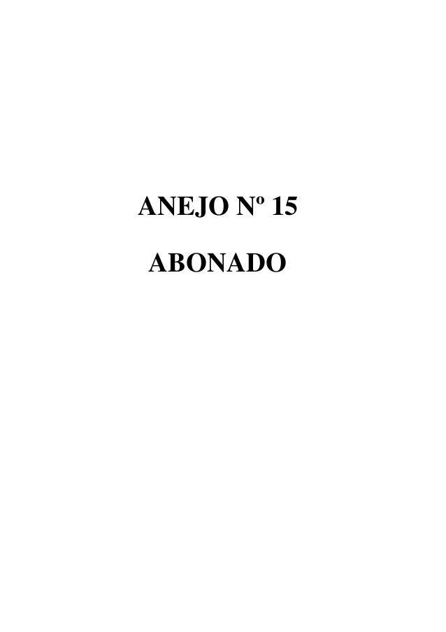 ANEJO Nº 15 ABONADO
