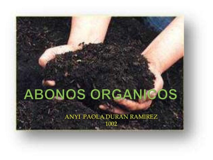 Abonos organicos