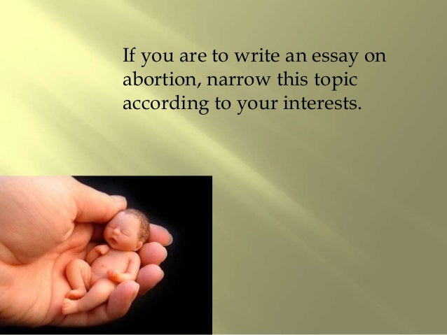 Introduction for abortion essay