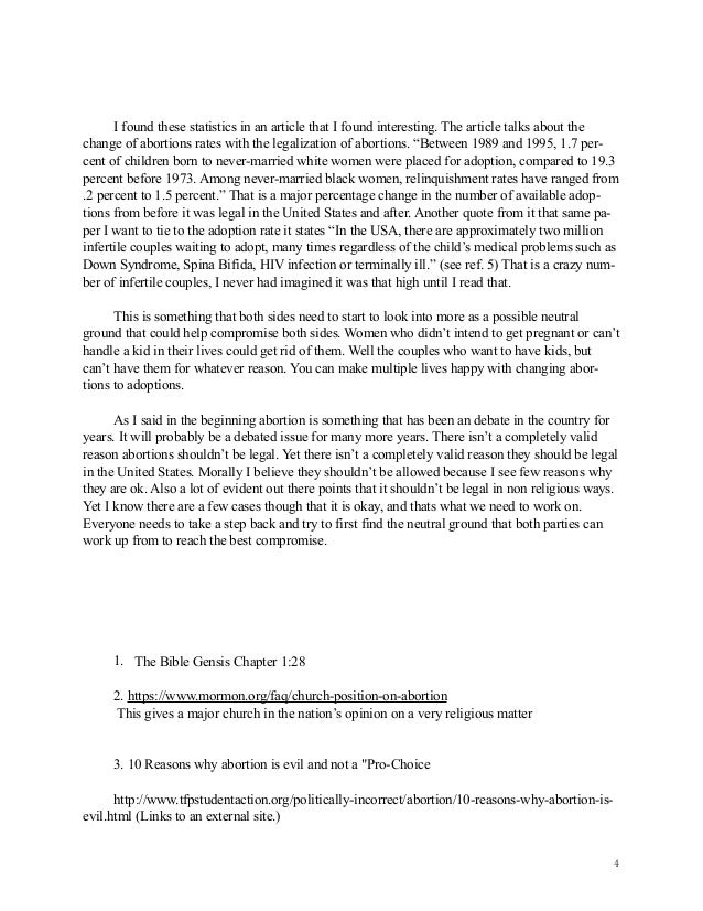 FREE Argument Against Abortion Essay