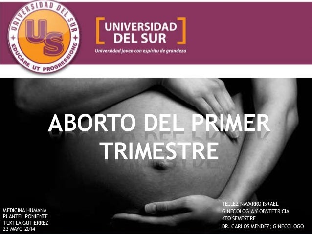 Aborto del primer trimestre - Aborto primer mes ...