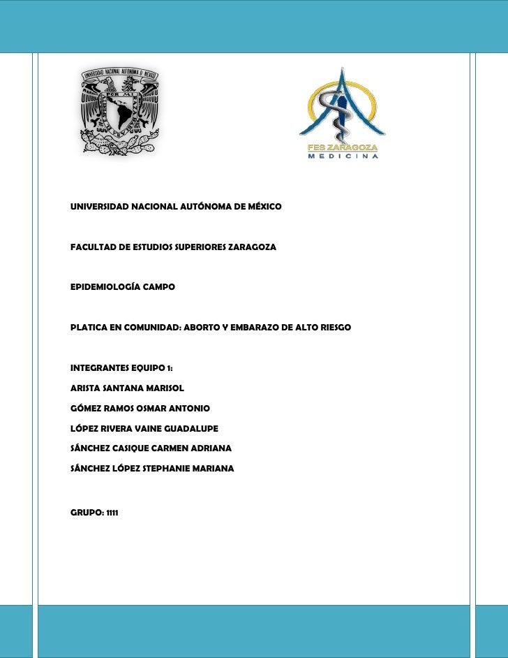 UNIVERSIDAD NACIONAL AUTÓNOMA DE MÉXICOFACULTAD DE ESTUDIOS SUPERIORES ZARAGOZAEPIDEMIOLOGÍA CA...