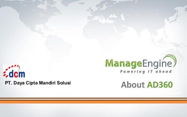 PT. Daya Cipta Mandiri Solusi Click to edit Master title style