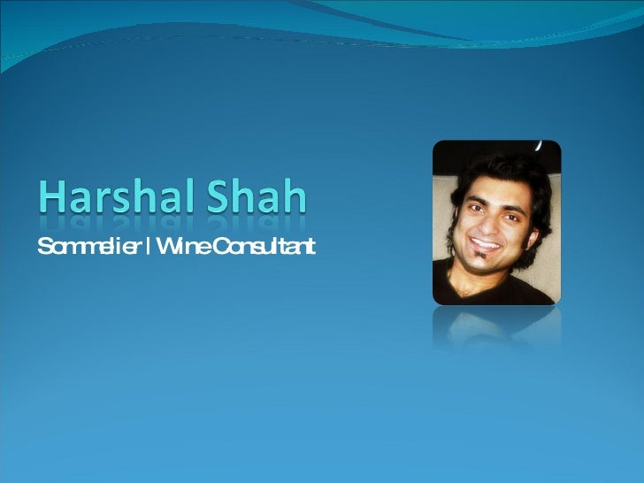 Harshal Shah Wine Consultant