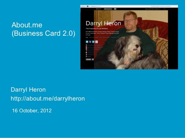 About.me (Business Card 2.0)