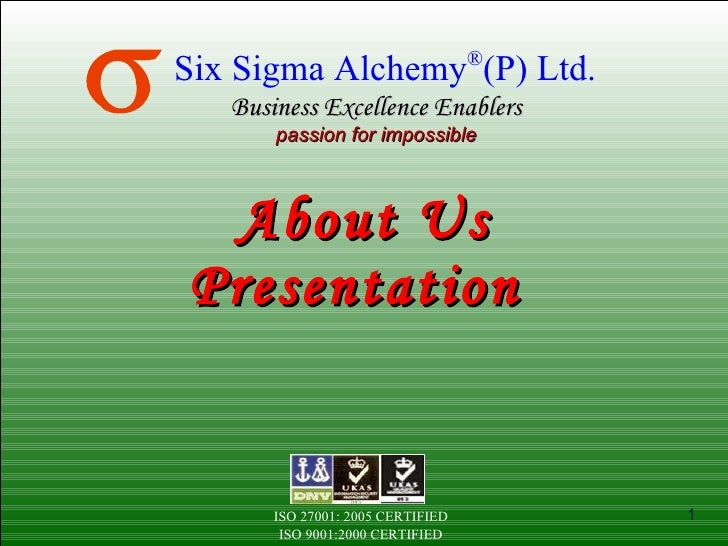 About Us Presentation