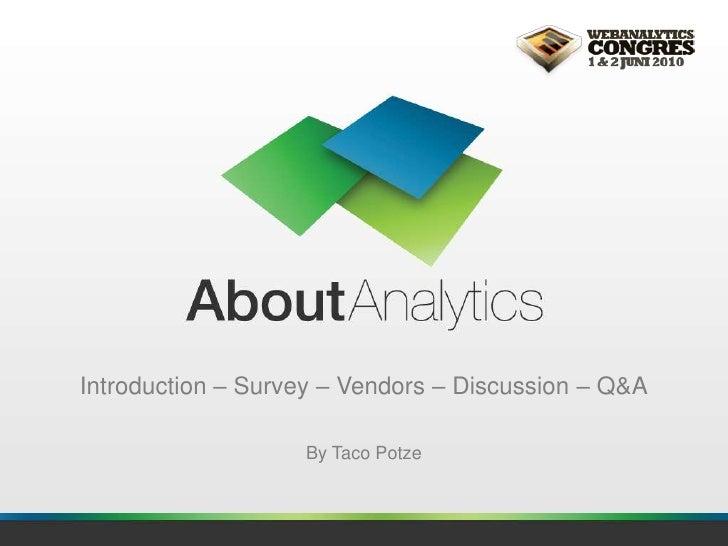 AboutAnalytics - Taco Potze - Web Analytics Congres 2010