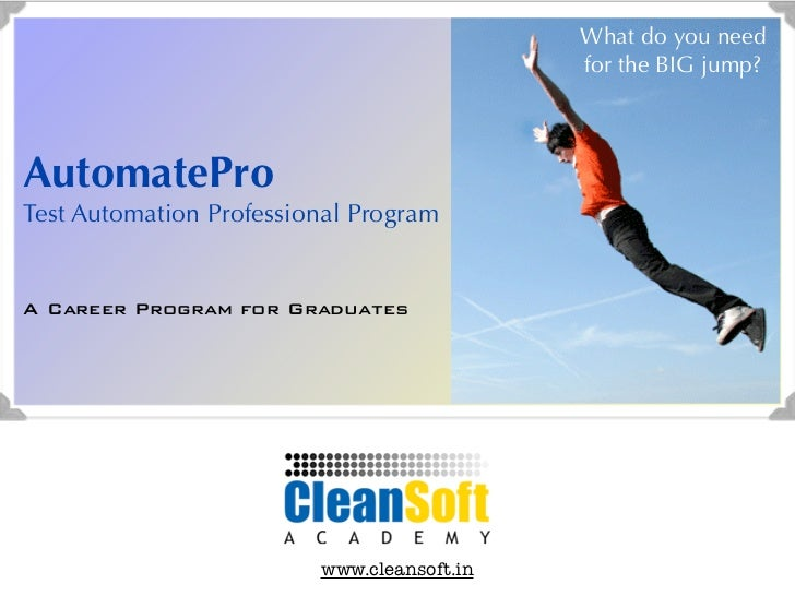 Make  a career in software testing: AutomatePro - Test Automation Professional Program