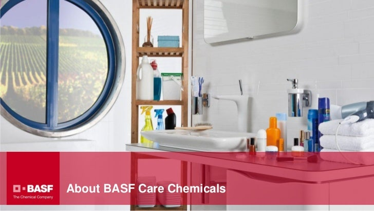 Sample title slidewith background imageColor bar opaqueAbout BASF Care Chemicals
