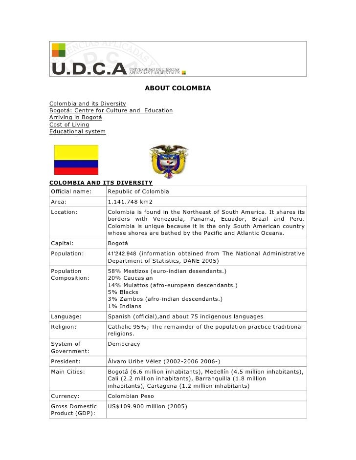 U.D.C.A: About Bogotá and Colombia