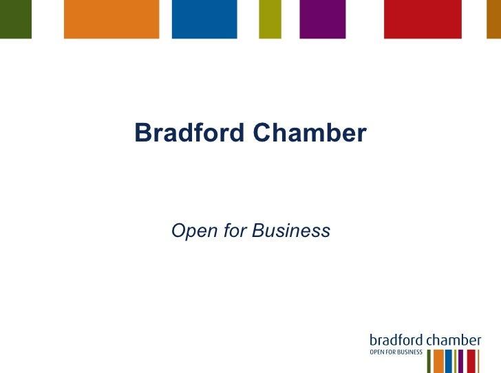 Bradford Chamber Open for Business