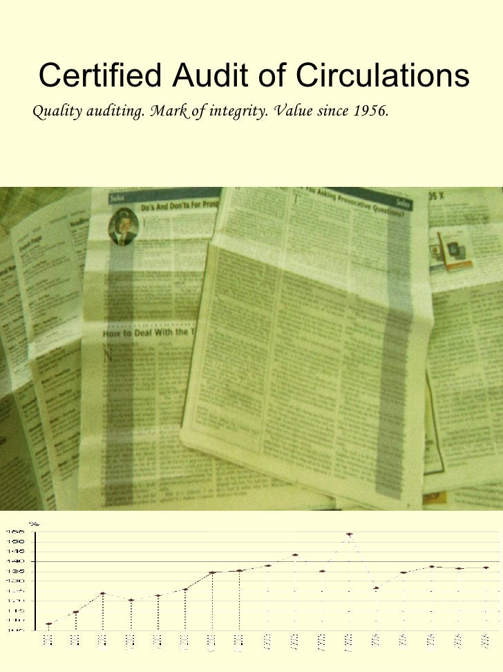Certified Audit of CirculationsQuality auditing. Mark of integrity. Value since 1956.