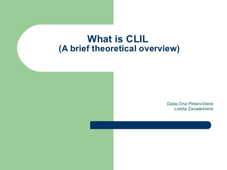 About CLIL
