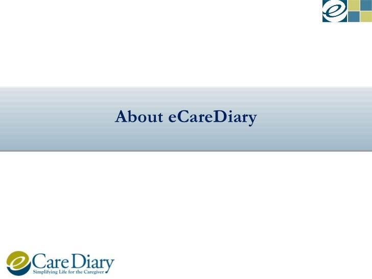 eCareDiary Caregiver Solution