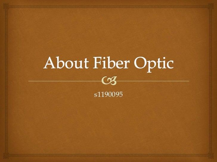 About fiber optic