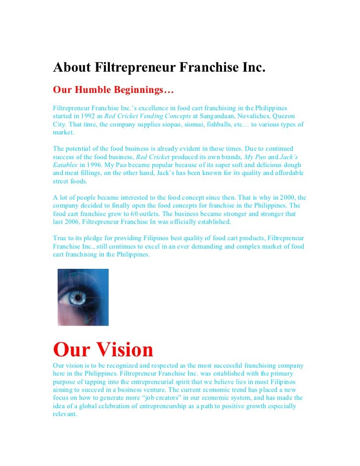 About Filtrepreneur Franchise Inc.Our Humble Beginnings…Filtrepreneur Franchise Inc.'s excellence in food cart franchising...