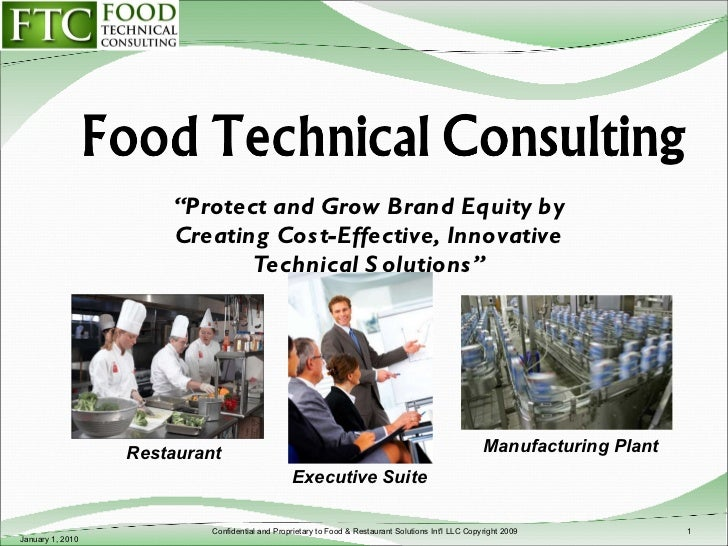 """ Protect and Grow Brand Equity by Creating Cost-Effective, Innovative Technical Solutions"" January 1, 2010 Confidential a..."