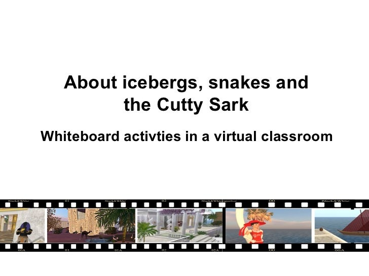 About icebergs, snakes and the Cutty Sark