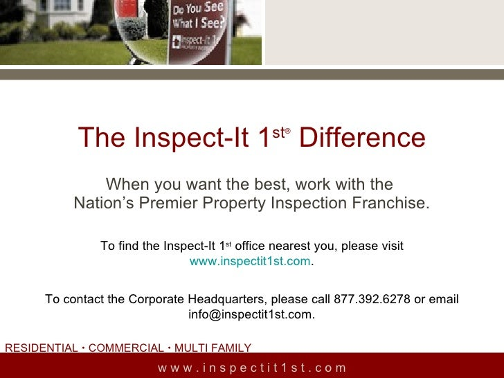 About Inspect It1st Presentation Corporate