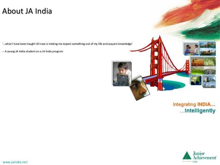 About JA India December 2011