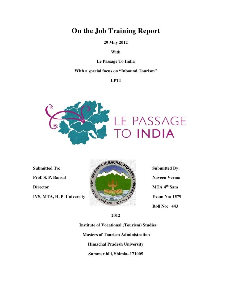 About le passage to india