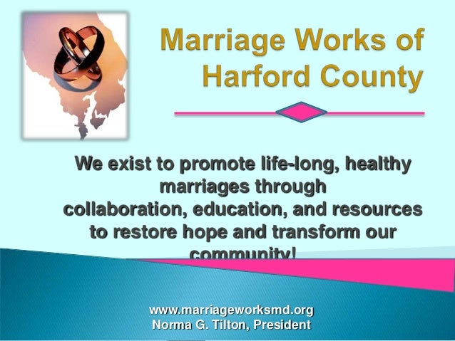 We exist to promote life-long, healthy           marriages throughcollaboration, education, and resources   to restore hop...