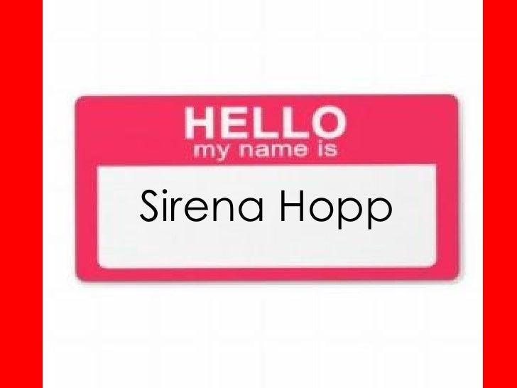 Sirena Hopp