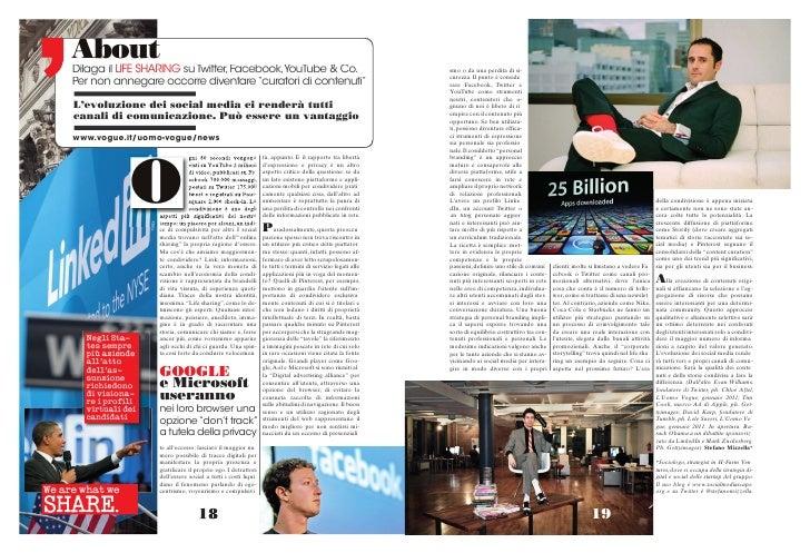 Life Sharing, Over Sharing (L'Uomo Vogue, Aprile 2012)