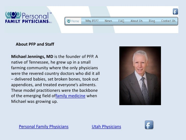 About PFP and StaffMichael Jennings, MD is the founder of PFP. Anative of Tennessee, he grew up in a smallfarming communit...