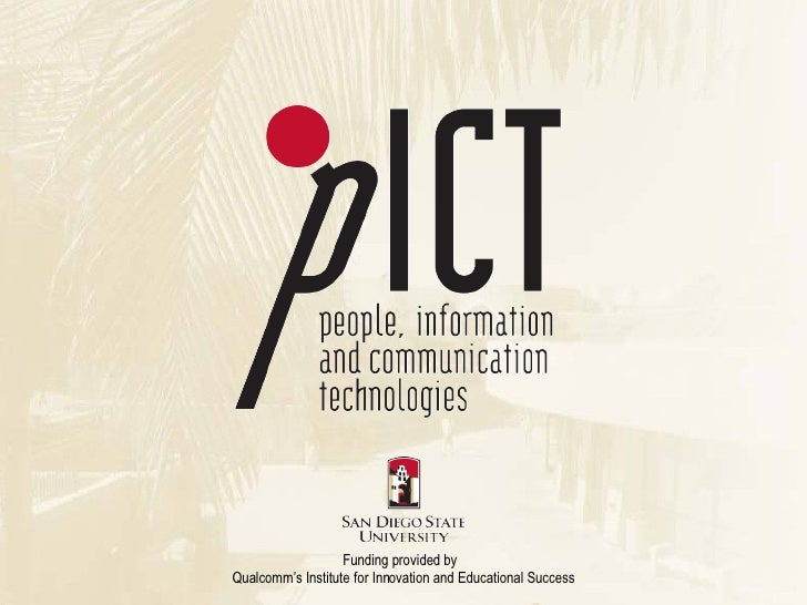 About pICT - People, Information and Communication Technologies