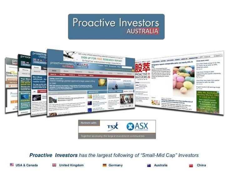 About proactive investors presentation sept 2011