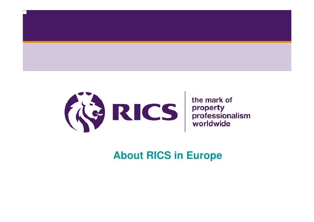 About RICS in Europe