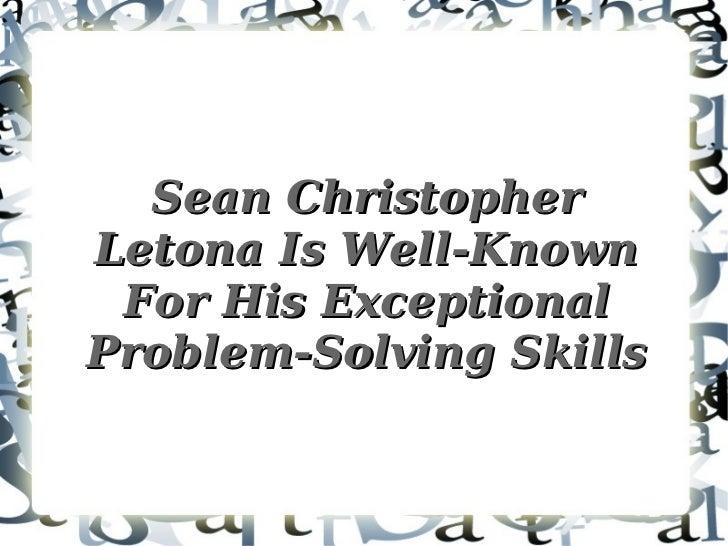 About Sean Christopher Letona