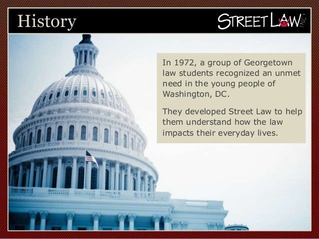 History          In 1972, a group of Georgetown          law students recognized an unmet          need in the young peopl...