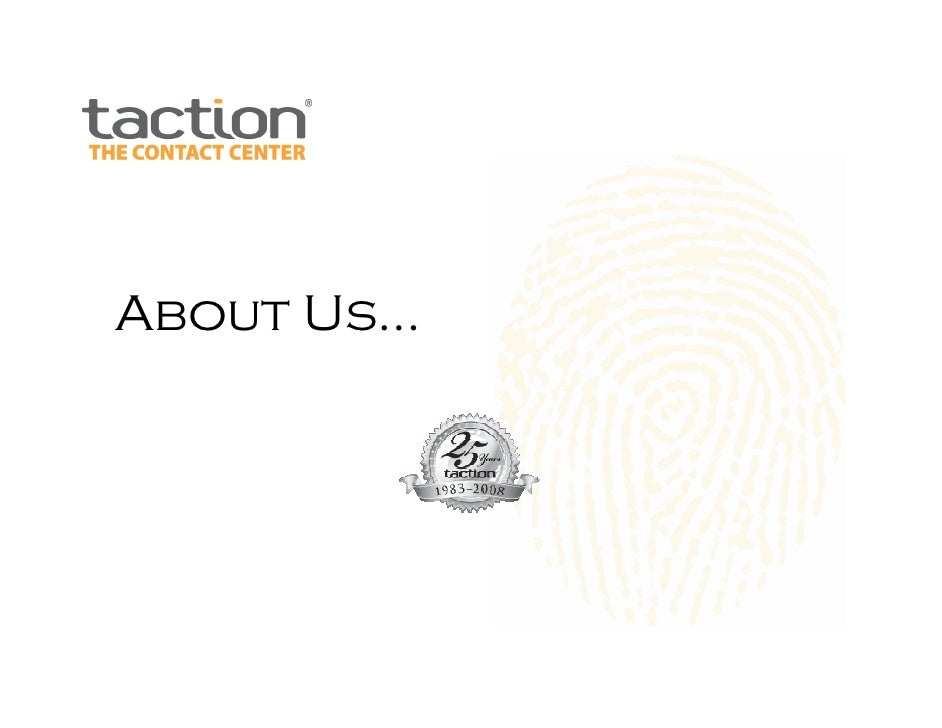 About Taction