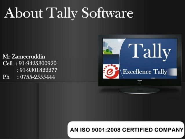 About tally software and Tally .ERP9